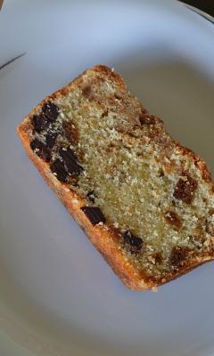 Gâteau aux pépites de chocolat et crumble de spéculoos