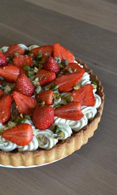 Tarte aux fraises et à la pistache style « Fantastik »