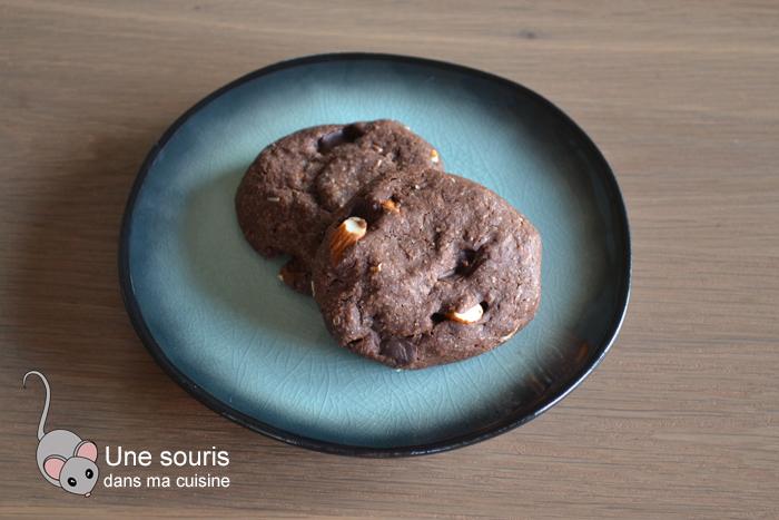 Biscuits chocolatés aux amandes