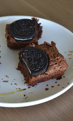 Brownie au Oréo