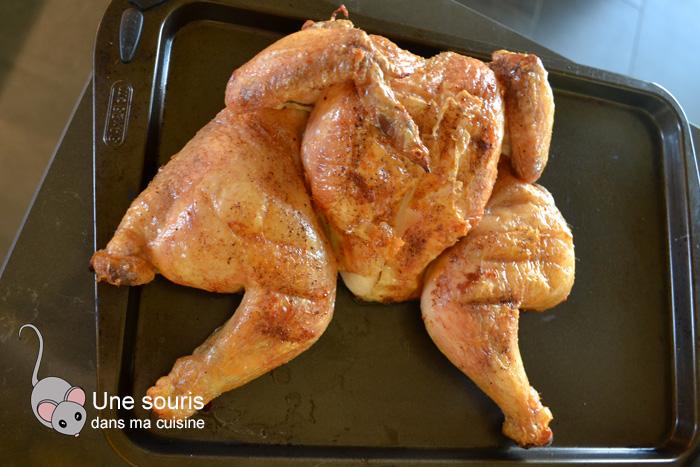 Poulet grillé en crapaudine au bbq
