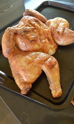 Poulet grillé en crapaudine