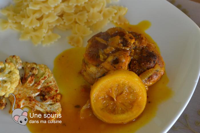 Jarrets de porc aux épices et au jus de carottes