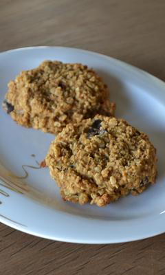Biscuits à la citrouille et aux flocons d'avoine