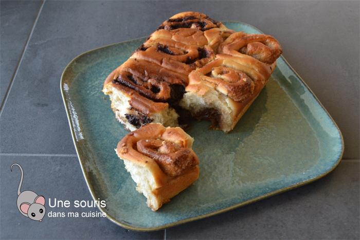 Brioches au caramel ou au chocolat sans oeufs ni produits laitiers