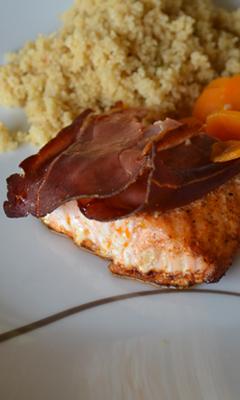 Saumon au paprika et au prosciutto