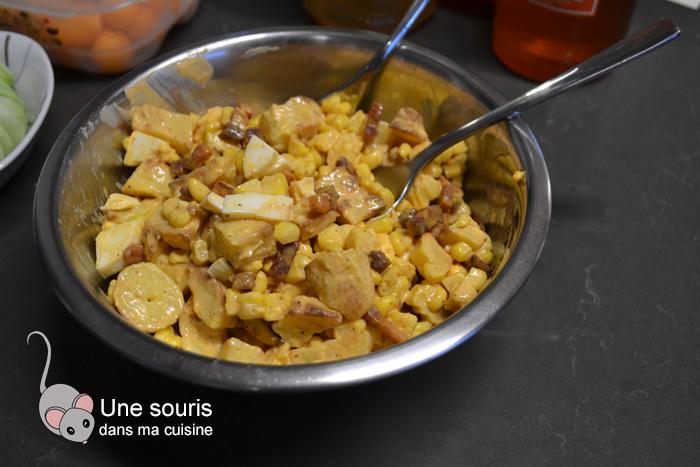 Salade de pommes de terre et maïs