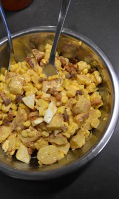 Salade de pommes de terre et de maïs