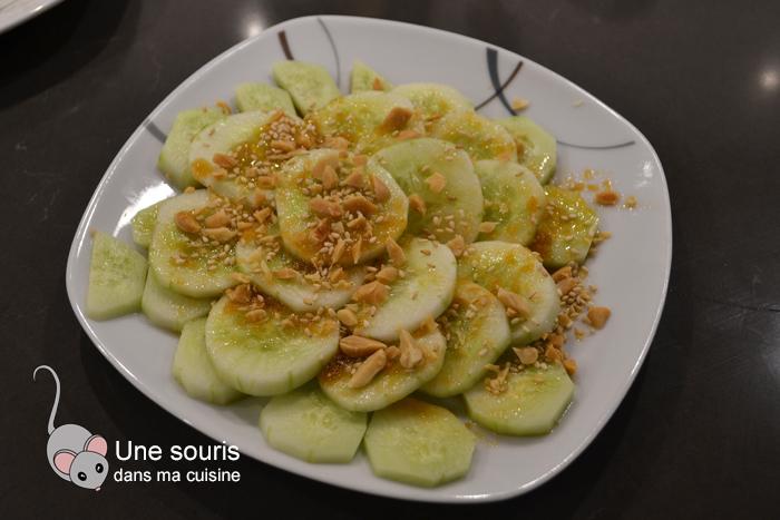 Plateau de concombre & garniture thaïe
