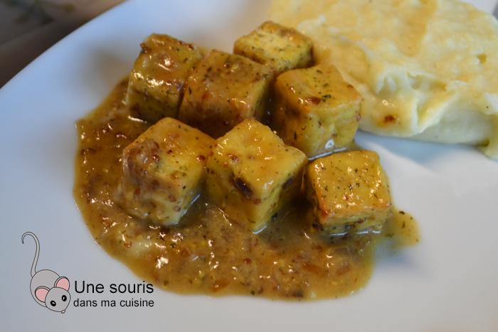 Tofu moutarde et érable