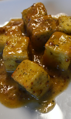 Tofu moutarde érable