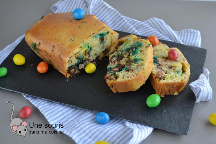 Gâteau aux M&M's et à la crème