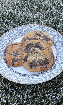 Biscuits crousti-moelleux à l'avoine et au chocolat