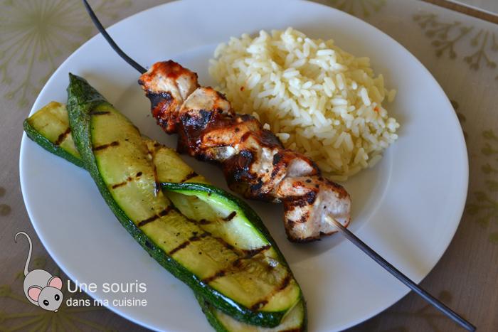 Brochettes de poulet barbecue de Ricardo