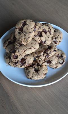 Biscuits vegan aux pépites de chocolat