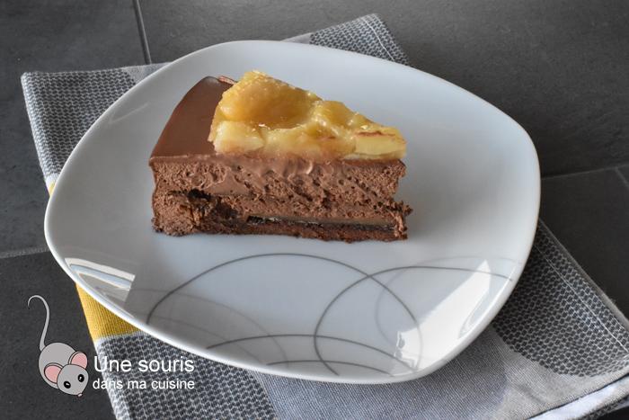 Entremet chocolat et poire