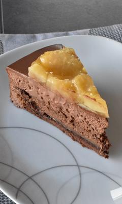 Entremet chocolat-poire