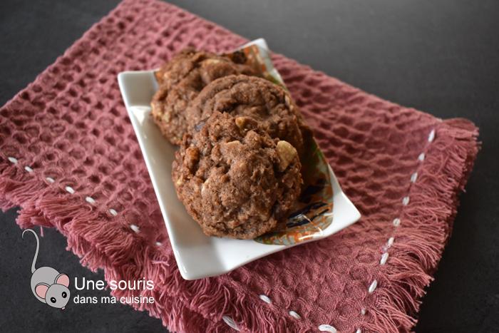Biscuits à la noix de coco et aux deux chocolats