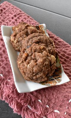 Biscuits à la noix de coco et aux 2 chocolats