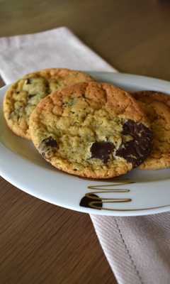 Biscuits aux pépites de chocolat et aux 3 sucres
