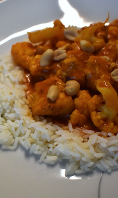 Curry de chou-fleur au tofu