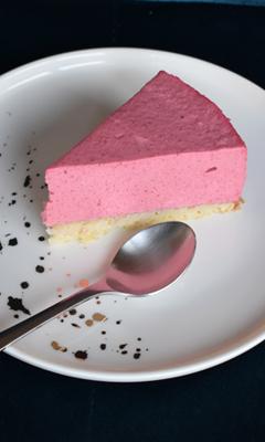 Gâteau mousse aux framboises