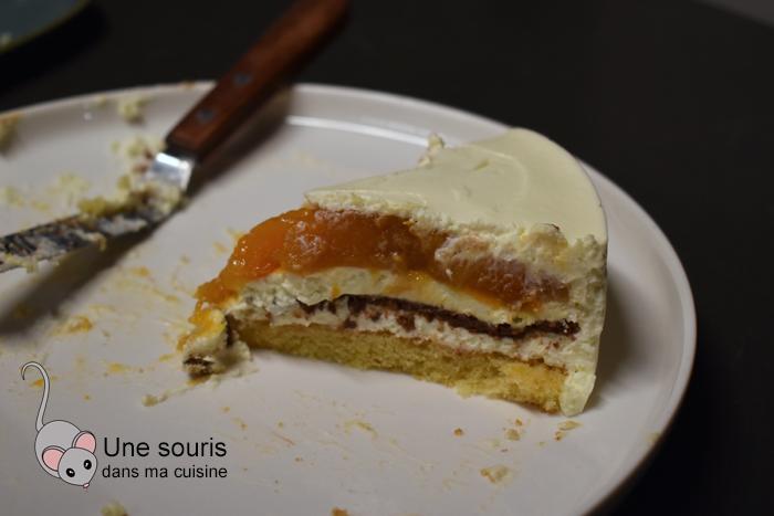 Entremet vanille et abricot