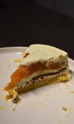 Entremet à la vanille et à l'abricot