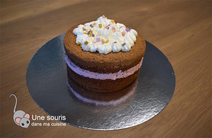 Gâteau mousse aux framboises ou aux fraises sans gélatine