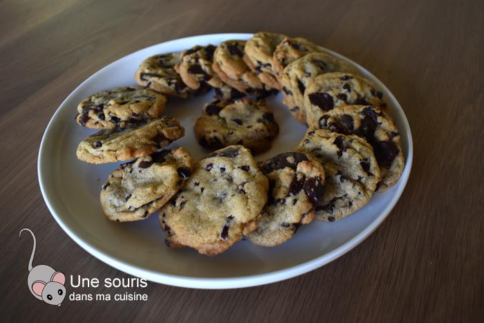 Biscuits aux raisins, chocolat et grués de cacao simple