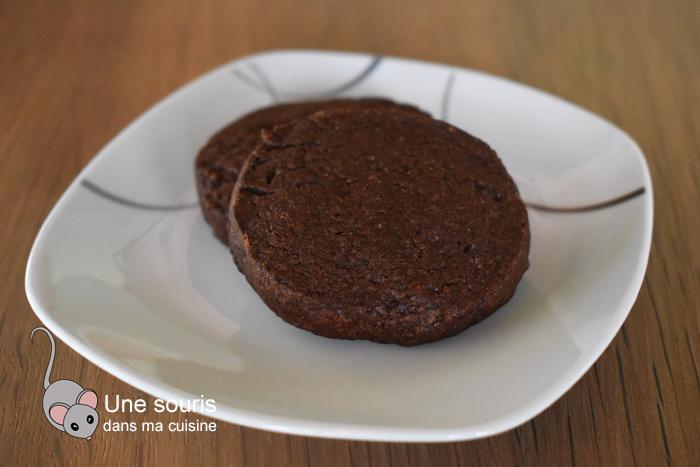 Biscuits shortbreads au chocolat