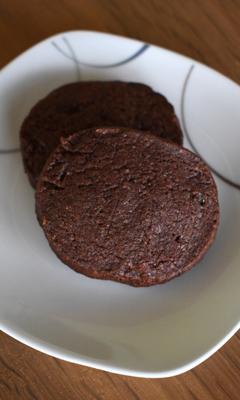 Biscuits shortbreads chocolatés